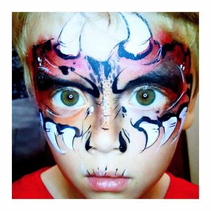 Tick Boom Face Painting Brighton South East England