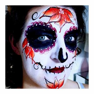 Tick Boom Face Painting Halloween Brighton Hove Sussex South East England London