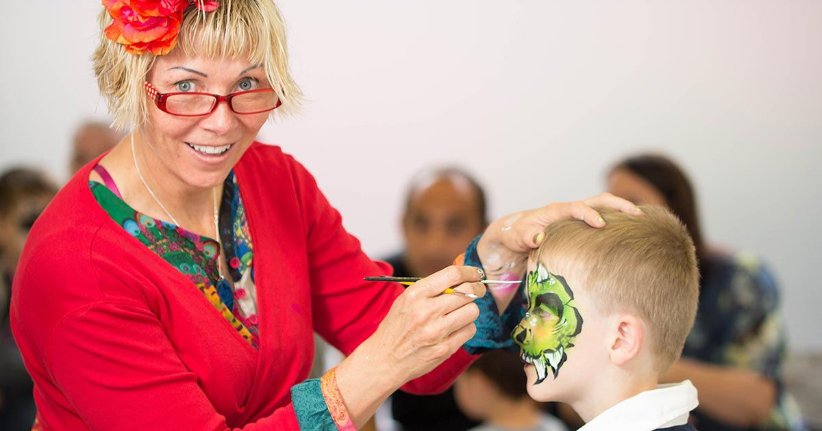 Deborah Smethurst Tick Boom Face Painting About Tick Boom Face Painting FB