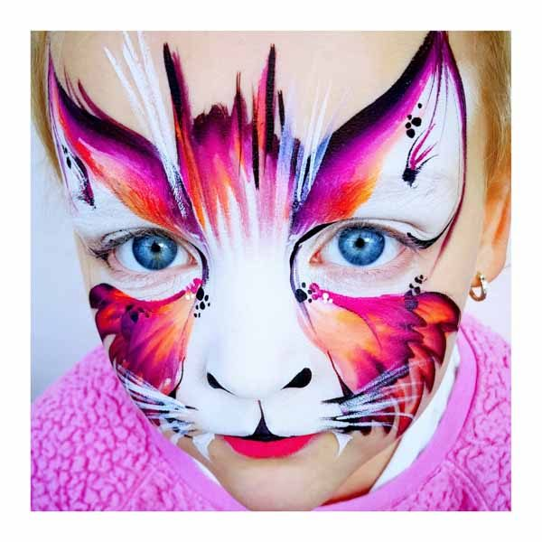 Tick Boom Face Painting Children Brighton South East England