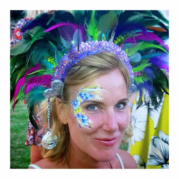 Tick Boom Face Painting Festivals face Painting Brighton Hove Sussex South East England London